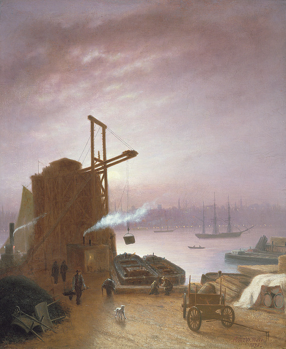 The Painting - The Hudson River From Hoboken by Robert Walter Weir
