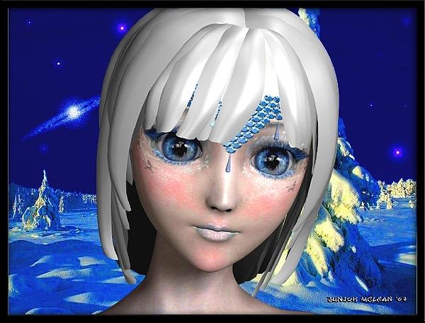 Female Digital Art - The Ice Princess by Junior Mclean