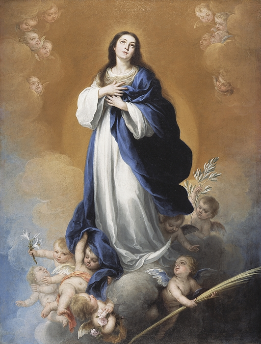 The Painting - The Immaculate Conception  by Bartolome Esteban Murillo