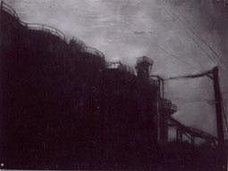 Dark Mixed Media - The Industrial Sector by Garrett Price
