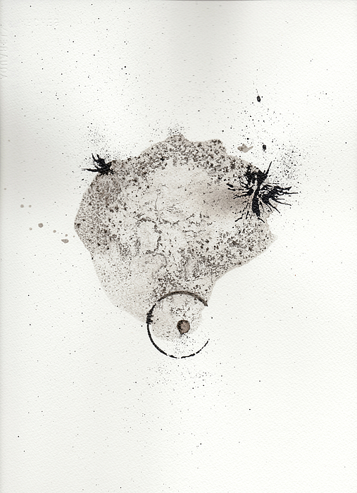 Ink Painting - The Inexplicable Ignition Of Time Expanding Into Free Space Phase One Number 17 by Mark M  Mellon