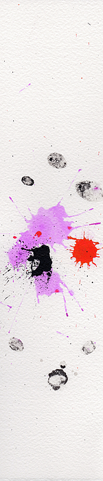 Ink Painting - The Inexplicable Ignition Of Time Expanding Into Free Space Phase Two Number 03 by Mark M  Mellon