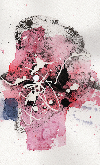 Ink Painting - The Inexplicable Ignition Of Time Expanding Into Free Space Phase Two Number 14 by Mark M  Mellon
