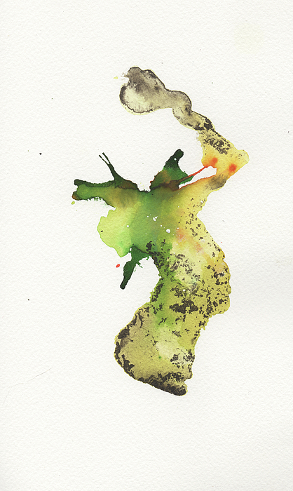 Ink Painting - The Inexplicable Ignition Of Time Expanding Into Free Space Phase Two Number 26 by Mark M  Mellon