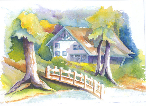 Inns Painting - The Inn by KC Winters