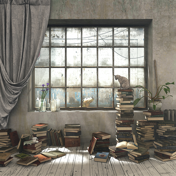 Books Digital Art - The Introvert by Cynthia Decker