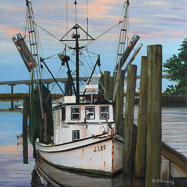 Shrimp Boat Painting - the J LEE by Rick McKinney