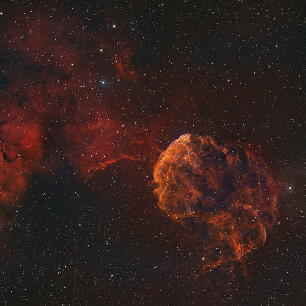 Supernova Photograph - The Jellyfish Nebula by Rolf Geissinger