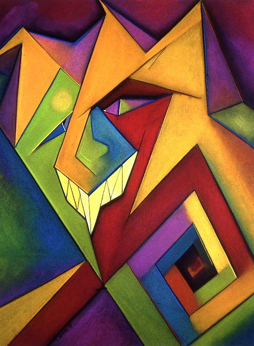 Bold Bright Colors Pastel - The Jester by Tracey Levine