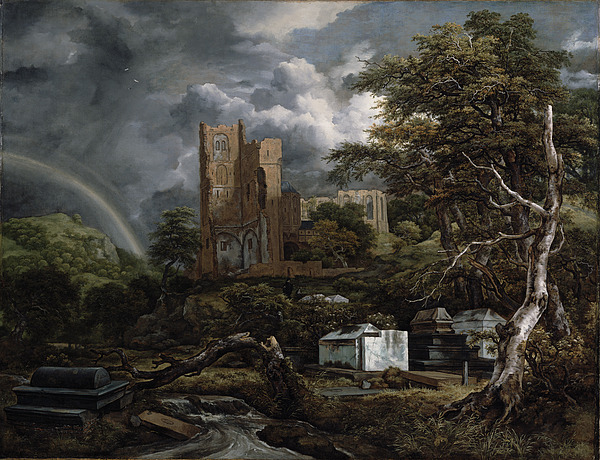 The Painting - The Jewish Cemetery by Jacob Isaaksz Ruisdael