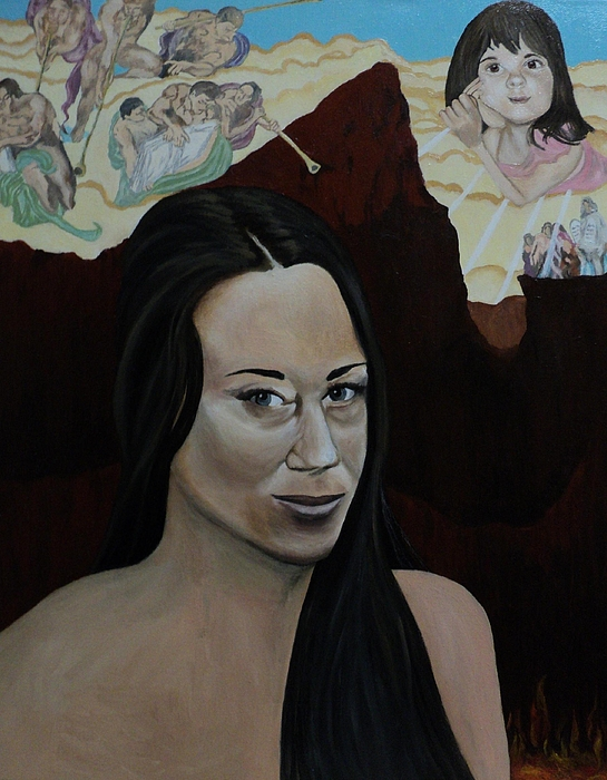 Casey Anthony Painting - The Judgment Of Casey Anthony The Sacrifice Of Caylee Anthony by Angelo Thomas