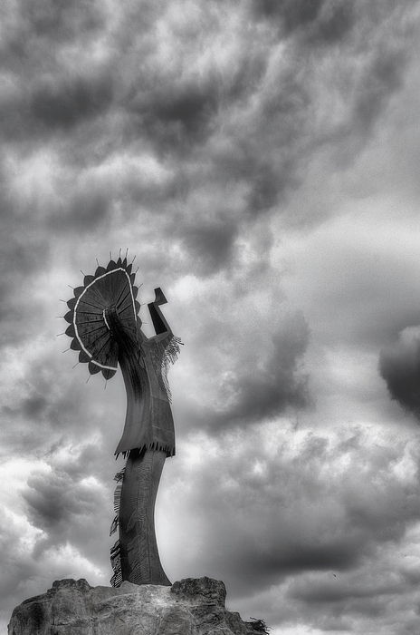 The Keeper Of The Plains Photograph - The Keeper by JC Findley