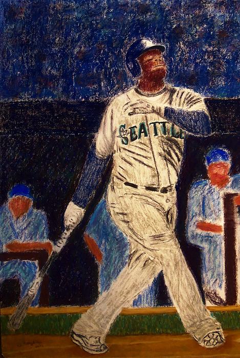 Ken Griffey Jr. Painting - The Kid Feat Ken Griffey Jr by D Rogale