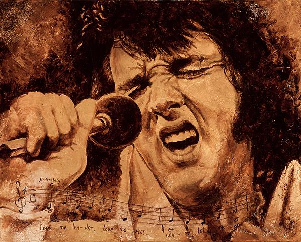 Elvis Presley Painting - The King by Igor Postash