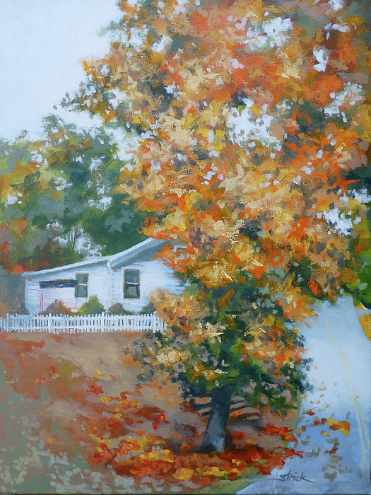 Autumn Painting - The King Of King Street by Carol Strickland
