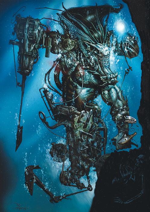 Fantasy Painting - The Kraken by Paul Davidson