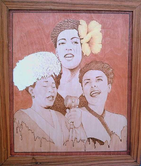 Billie Holiday Mixed Media - The Ladies Of Jazz by William Burton Jr