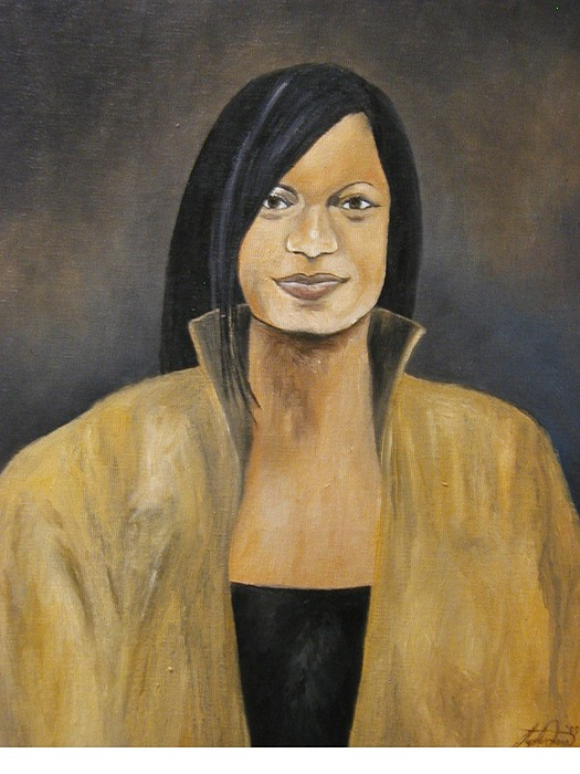 Portrait Painting - The Lady In Gold  by Angelo Thomas