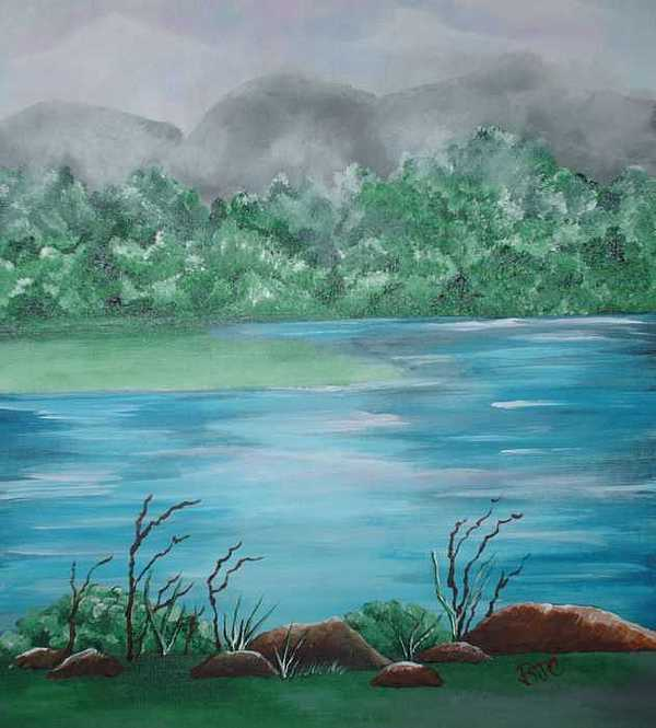 The Lake Painting by Brenda Coster