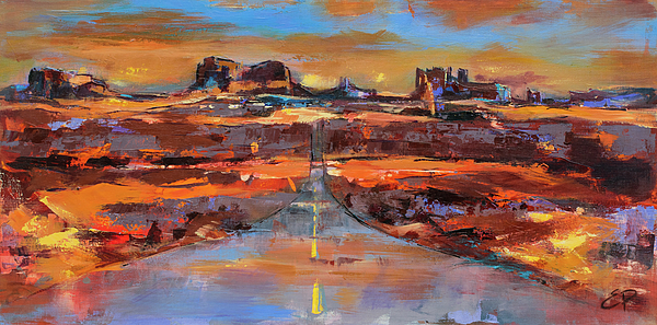 Monument Valley Painting - The Land Of Rock Towers by Elise Palmigiani