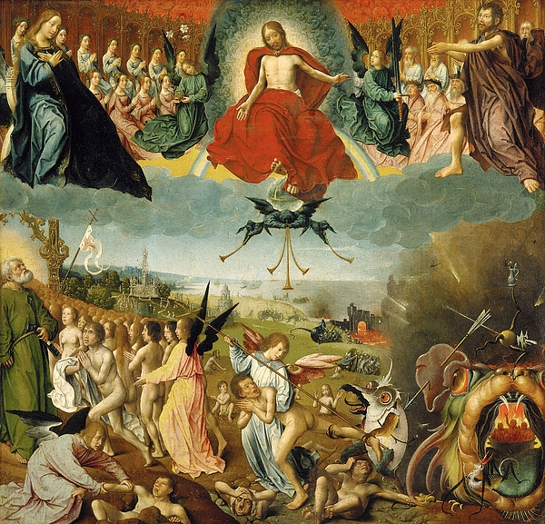 The Painting - The Last Judgement by Jan II Provost