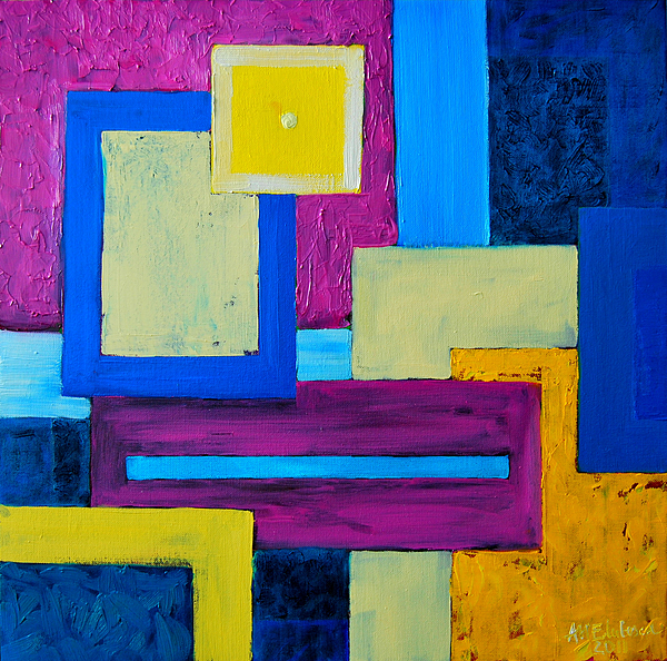 Abstract Painting - The Last Message by Ana Maria Edulescu