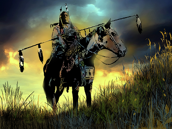 Native Americans Painting - The Last Ride by Paul Sachtleben