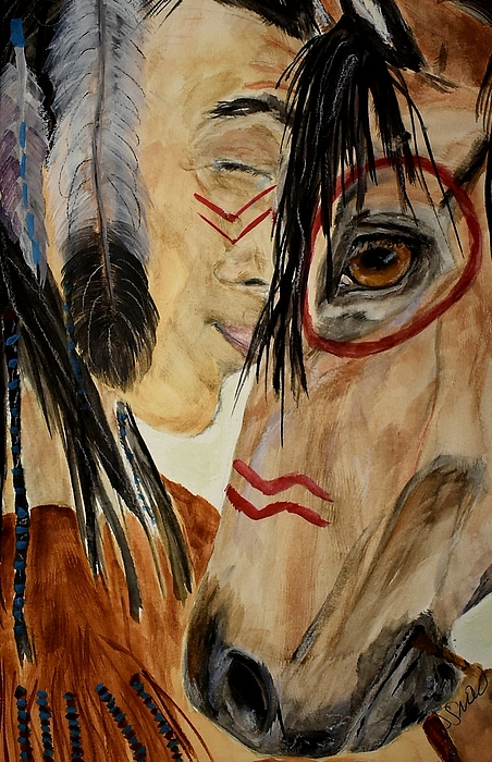 Native American Painting - The Last Ride by Susan Snow Voidets