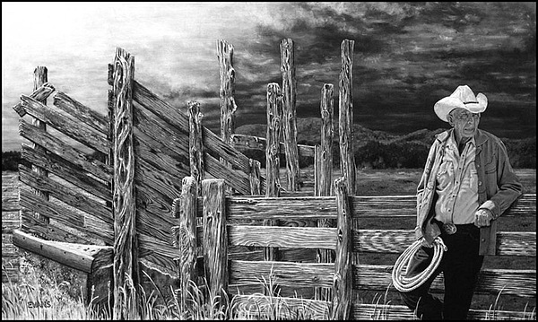 The Last Roundup Painting by Roger Evans