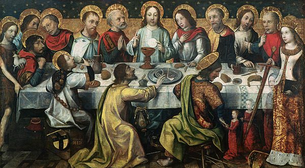 The Painting - The Last Supper by Godefroy