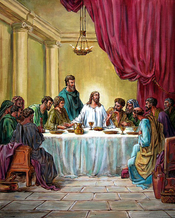 Jesus Painting - The Last Supper by John Lautermilch