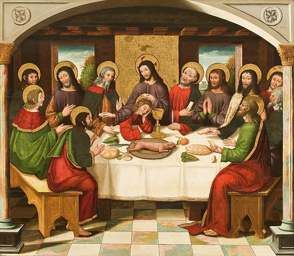 The Last Supper Painting - The Last Supper by Master of Portillo