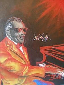 The Late Great Ray Charles Painting by Dunbars Modern Art