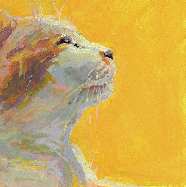 Cat Painting - The Light by Kimberly Santini