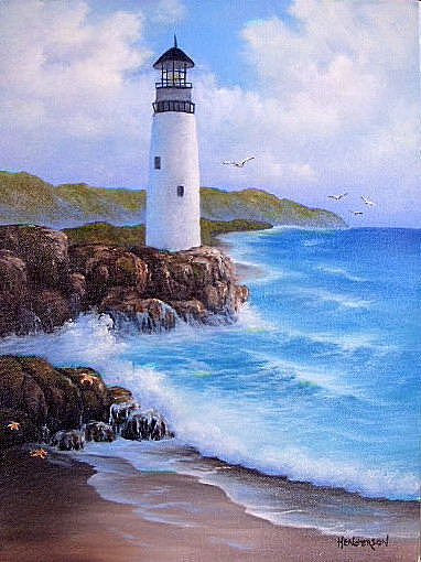 Lighthouse Painting - The Lighthouse by Francine Henderson
