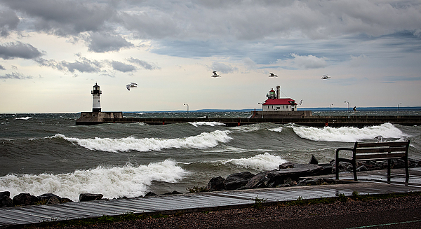 Duluth Photograph - The Lights In The Storm by David Wynia