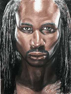The Lion Painting - The Lion - Lennox Lewis by Kenneth Kelsoe