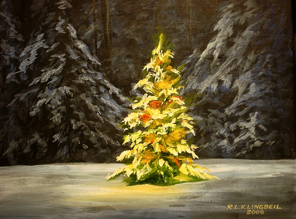 The little christmas tree painting by richard klingbeil
