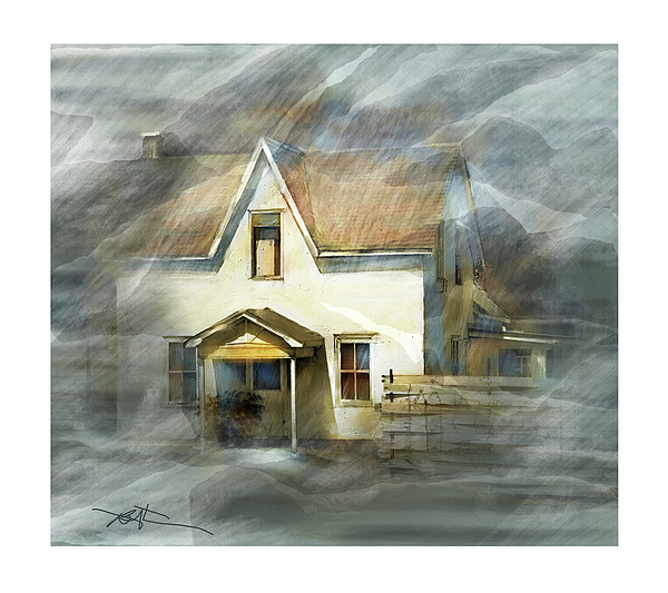 House Painting - The Little White House On Hwy 6 by Bob Salo