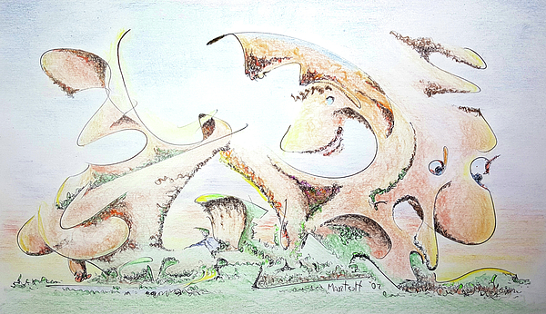 Colored Drawing - The Living Planet by Dave Martsolf