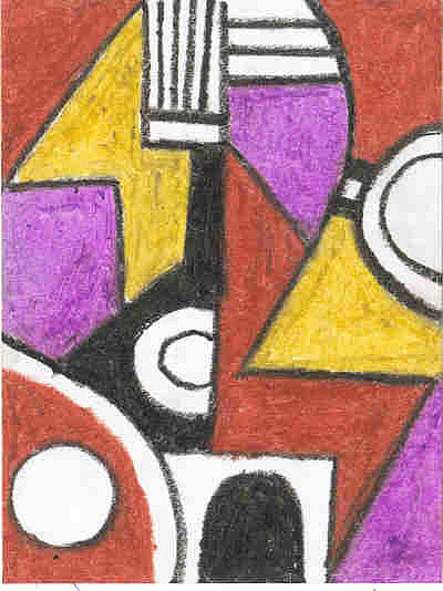 Cubism Painting - The Load Carrier by Ellis Oyekola