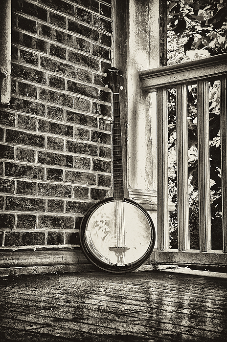 Banjo Photograph - The Lonely Banjo by Bill Cannon