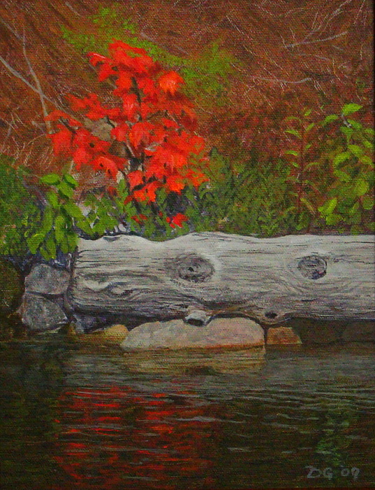 Landscape Painting - The Lonely Maple Tyson Lake by Doug Goodale
