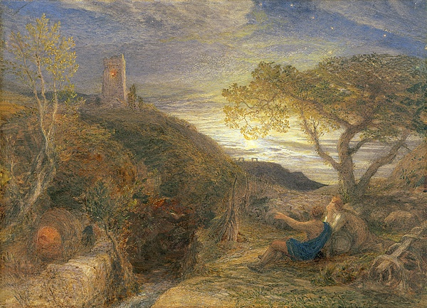 The Painting - The Lonely Tower by Samuel Palmer