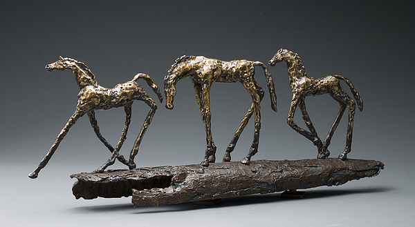 Horse Sculpture - The Long Walk by Mindy  Z Colton