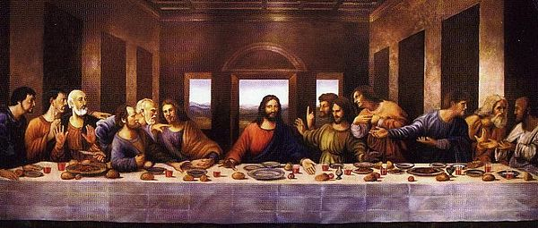 Wall Mural Painting - The Lords Last Supper by Mark Sanislo