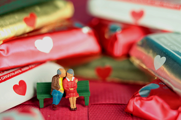The Photograph - The Lovers In Valentines Day by Paul Ge