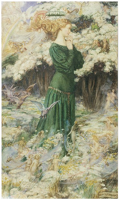 Eleanor Fortescue-brickdale Painting - The Lovers World by Eleanor Fortescue-Brickdale