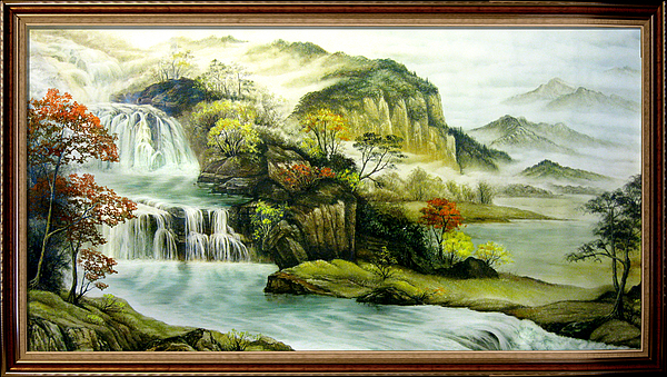 Landscape Painting - The Magic Of Fall by Baoling Peng