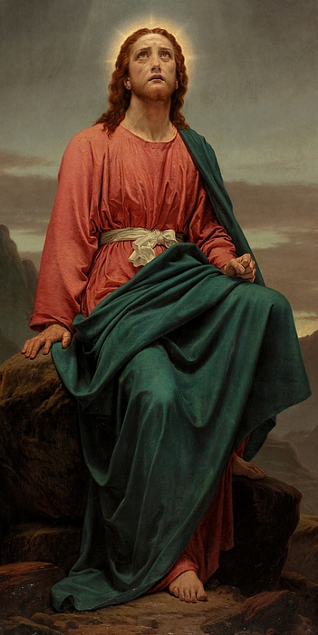 Nightfall Painting - The Man Of Sorrows by Sir Joseph Noel Paton